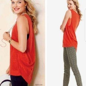 Cabi 5012 siren orange sweater blouse tank  top